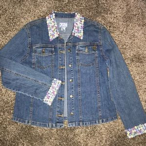 April Cornell vintage denim jacket